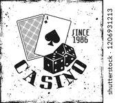 casino and poker gambling... | Shutterstock .eps vector #1206931213