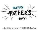 handlettering happy father's... | Shutterstock .eps vector #1206931606