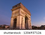 the triumphal arch is one of... | Shutterstock . vector #1206937126
