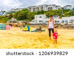 carbis bay  st ives  cornwall   ...   Shutterstock . vector #1206939829
