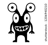monster with four eyes... | Shutterstock .eps vector #1206940210