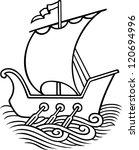sail ship   Shutterstock .eps vector #120694996