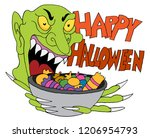 an image of a monster holding... | Shutterstock .eps vector #1206954793