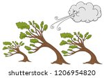 an image of a fluffy trees and... | Shutterstock .eps vector #1206954820