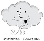 an image of a happy cloud... | Shutterstock .eps vector #1206954823