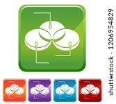 an image of a venn diagram... | Shutterstock .eps vector #1206954829