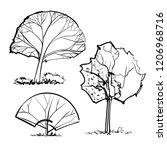 hand drawn vector illustrations ... | Shutterstock .eps vector #1206968716
