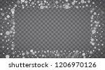 blizzard snowflakes on... | Shutterstock .eps vector #1206970126