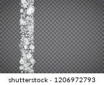 snowflake border for christmas... | Shutterstock .eps vector #1206972793