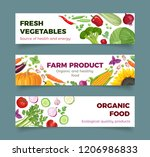 set of vegetables banner.... | Shutterstock .eps vector #1206986833