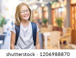 young beautiful smart student... | Shutterstock . vector #1206988870