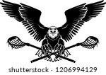 american eagle lacrosse | Shutterstock .eps vector #1206994129
