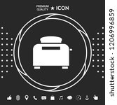 toaster oven icon | Shutterstock .eps vector #1206996859