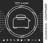 toaster oven linear icon | Shutterstock .eps vector #1206996889
