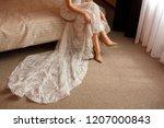 wedding concept. bride in high... | Shutterstock . vector #1207000843