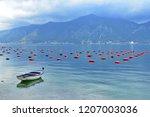 mussles  farm in kotor bay ...   Shutterstock . vector #1207003036