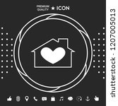 house with heart symbol | Shutterstock .eps vector #1207005013