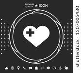 heart with medical cross | Shutterstock .eps vector #1207005430