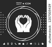 hands holding heart  ... | Shutterstock .eps vector #1207005439