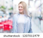 young blonde woman over... | Shutterstock . vector #1207011979