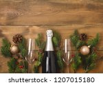 new years christmas celebration ... | Shutterstock . vector #1207015180
