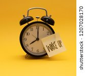 time to wake up 8 00 | Shutterstock . vector #1207028170