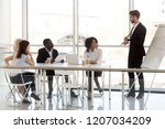millennial businessman make... | Shutterstock . vector #1207034209