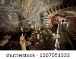 stockholm subway stop called ... | Shutterstock . vector #1207051333