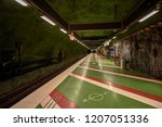 stockholm subway stop called ... | Shutterstock . vector #1207051336