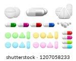 isolated healthcare white pills ... | Shutterstock .eps vector #1207058233