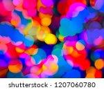 a multicolored festive rainbow... | Shutterstock . vector #1207060780