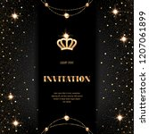 vip invitation template with... | Shutterstock .eps vector #1207061899