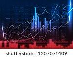 stock market or forex trading... | Shutterstock . vector #1207071409