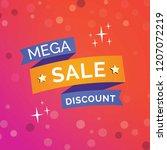 creative mega sale discount... | Shutterstock .eps vector #1207072219