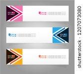 vector abstract banner design... | Shutterstock .eps vector #1207073080