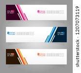 vector abstract banner design... | Shutterstock .eps vector #1207073119