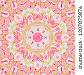 seamless pink floral background ...   Shutterstock . vector #1207075876