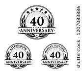 40 years anniversary set. 40th...   Shutterstock .eps vector #1207083886