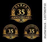 35 years anniversary set. 35th... | Shutterstock .eps vector #1207083910