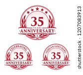 35 years anniversary set. 35th... | Shutterstock .eps vector #1207083913