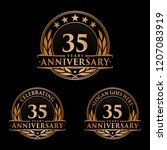 35 years anniversary set. 35th... | Shutterstock .eps vector #1207083919