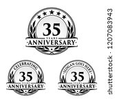 35 years anniversary set. 35th... | Shutterstock .eps vector #1207083943
