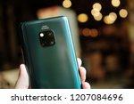 london england   huawei launch... | Shutterstock . vector #1207084696