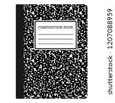 composition book   black... | Shutterstock .eps vector #1207088959