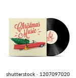 christmas music playlist cover... | Shutterstock .eps vector #1207097020
