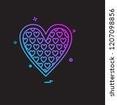 hearts icon design vector | Shutterstock .eps vector #1207098856