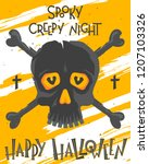 scary halloween poster with... | Shutterstock .eps vector #1207103326