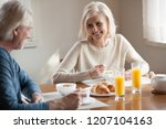 happy aged husband and wife... | Shutterstock . vector #1207104163