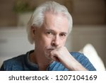portrait of sad aged man... | Shutterstock . vector #1207104169