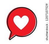heart in a speech bubble ... | Shutterstock .eps vector #1207107529